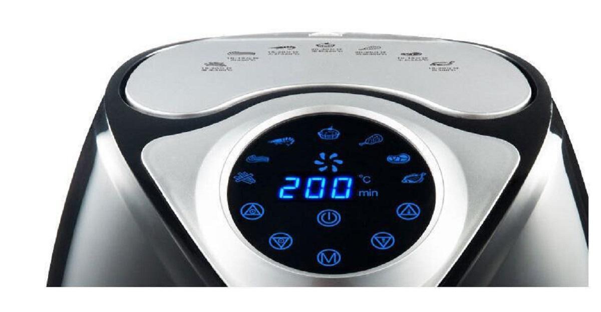 AF706P Fryer Air ménages Smart Touch Grand écran électrique Friteuse sans huile Capacité frites machine Capacité usine 8L