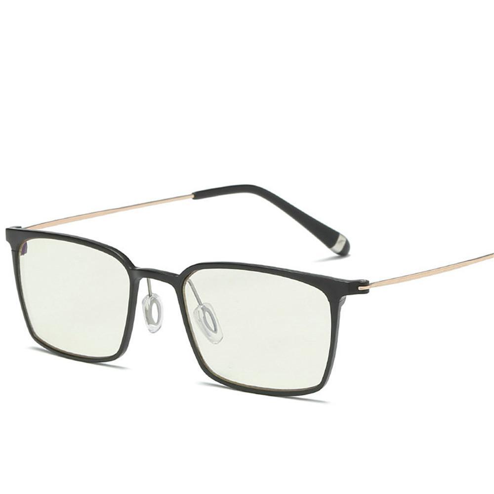 Al por mayor-MINCL / Lentes Anti MenEyeglasses marco de los vidrios de luz azul de aluminio y magnesio metal con espejo plano Gafas FML