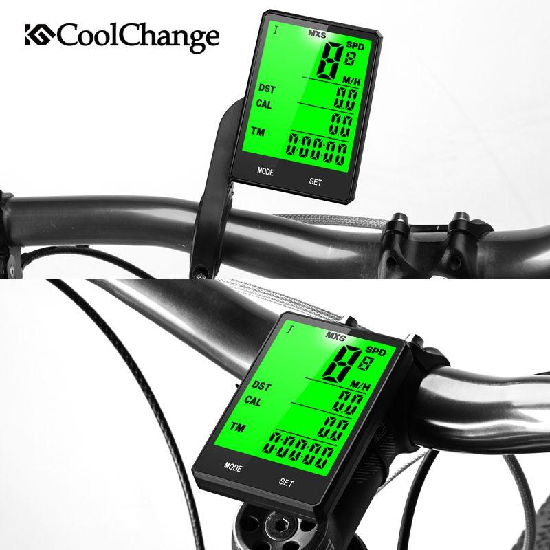 Yeni Kablosuz Bisiklet Bilgisayar Kilometre Kilometre Sayacı Yağmur Geçirmez Bisiklet Bisiklet Bilgisayar Bisiklet Ölçülebilir Sıcaklık Göstergesi Test Kronometre