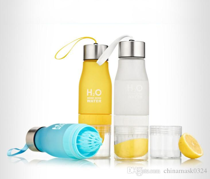 Açık Taşınabilir Suyu Shaker Spor Şişe için Limon Meyve demlik Kupası 650ml Su Şişesi demlik Drinkware