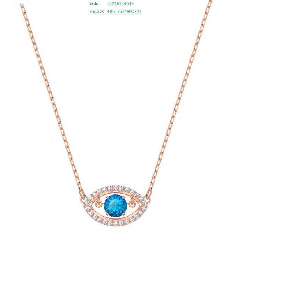 Модный Цирконий камень Pave Серебро Цвет Круглый падения Исходное письмо ожерелье для женщин подарка ювелирных изделий Марка