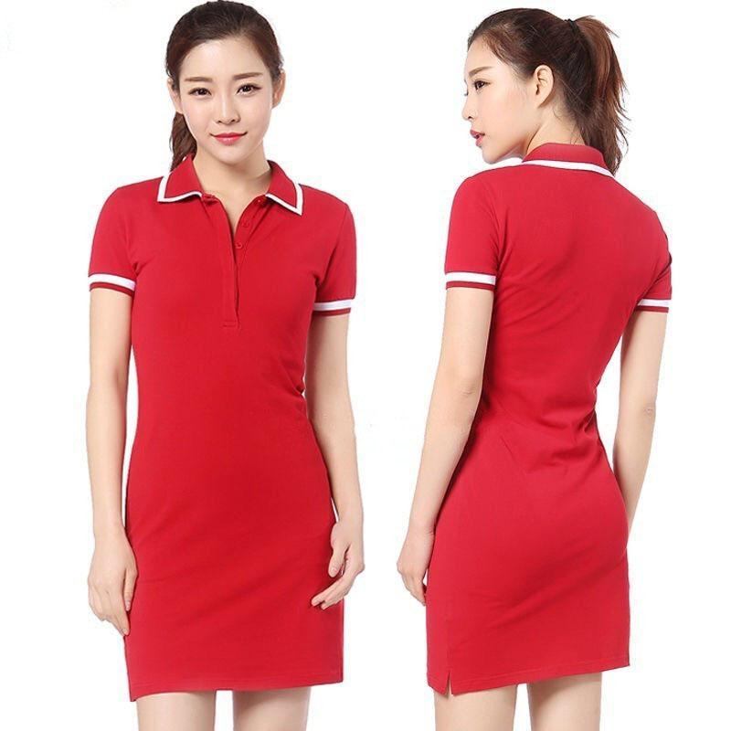 polo timsah timsah elbise Moda% 100 Pamuk Gömlek Elbise Günlük Polo Giyim A-Line Etek Taze Tatlı Giyim Sonbahar elbiseler womens