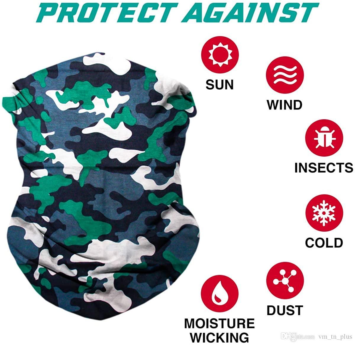 Unisex 3D Impreso Mascarilla Cuello Polaina Polvo Viento Protecci/ón solar Tubo sin costura M/áscara multifuncional