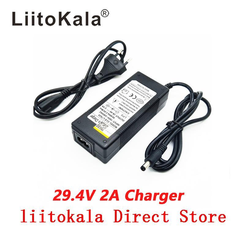 литиевая аккумуляторная батарея постоянная зарядное HK Liitokala 29.4V 2А 7series тока и постоянного давления полна себя - остановка