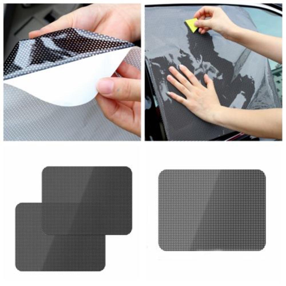 자동차 사이드 리어 윈도우 일 그늘 태양 바이저 자동차 창 쉐이딩 커버 자동차 스티커 블록 정적 클린 바이저 쉴드 화면 스티커