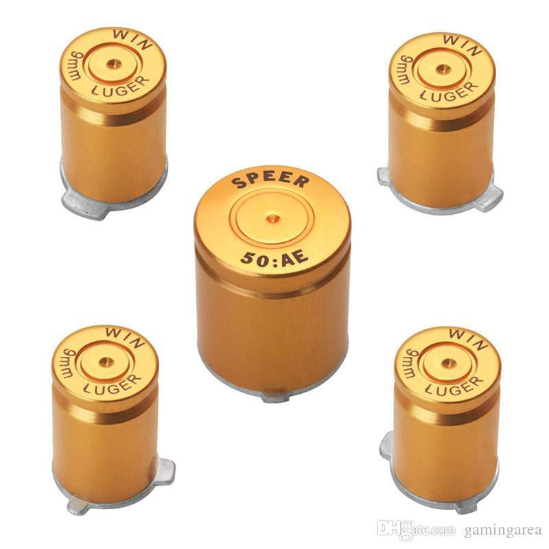 алюминиевый сплав Металлическая Пуля Кнопка 9 мм Luger ABXY и Speer Guide кнопки, установленные для контроллера xbox 360 DHL FEDEX EMS БЕСПЛАТНАЯ ДОСТАВКА