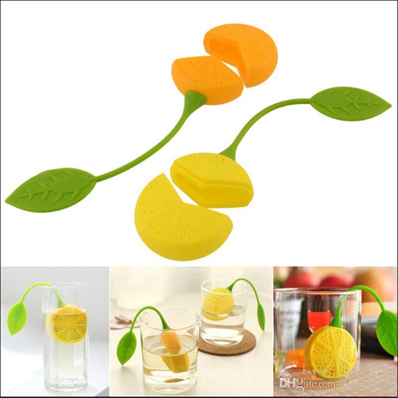 Çay Süzgeç Silikon Limon Tasarım Gevşek Tea Leaf Süzgeç Bitkisel Spice Demlik Filtre Çay Kahve Demlik Araçları