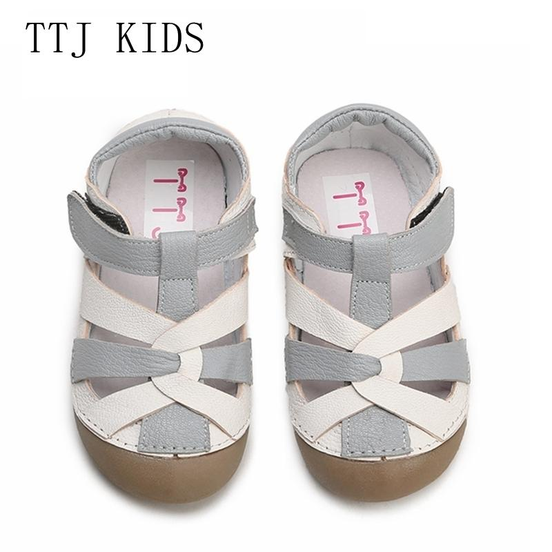 Ttj Children Leather Shoes Style Of Fashion Casual Boys Girls For Baby Shoes Kids Anti-slip Children Sandals Free Shippin Y19051303