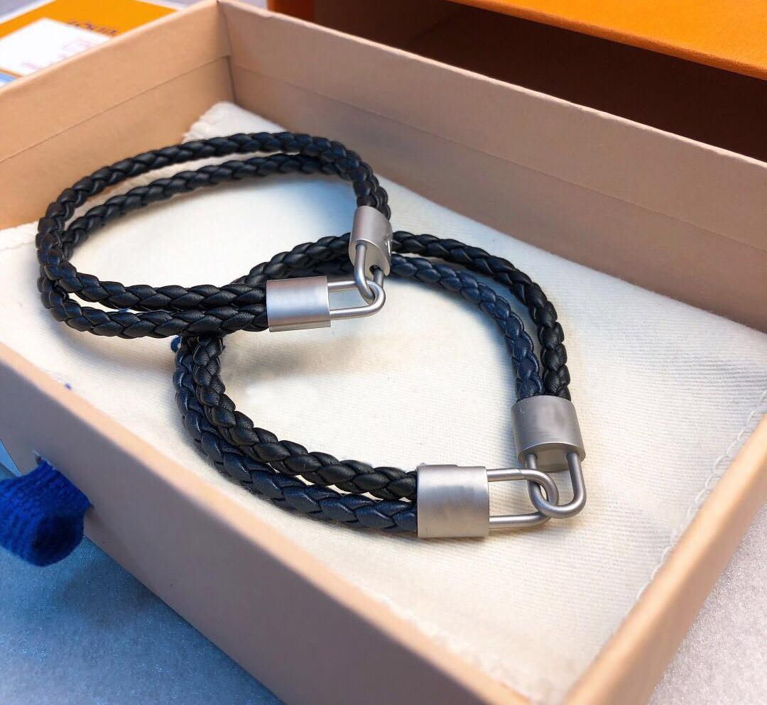 marque de mode en cuir avec des bracelets de marque LOGO Bangles pour les femmes Party des hommes de mariage bijoux de luxe pour les couples amoureux cadeau