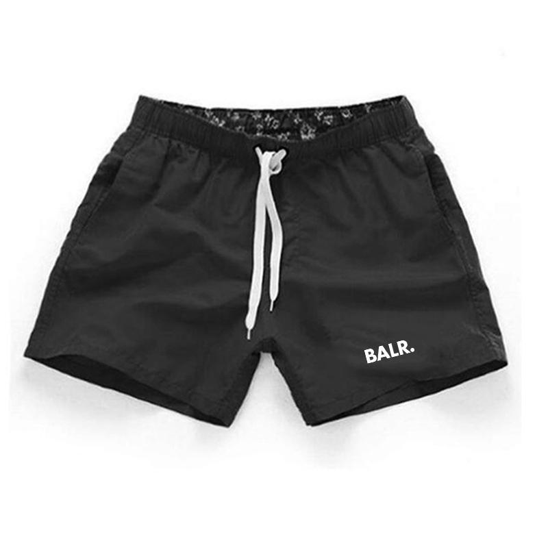 Neue Marken-Sommer-Designer Bademoden Shorts Polyester Shorts Fest Farbe atmungsaktiv elastische Taillen-beiläufige Kurzschlüsse Männer 3XL Männer