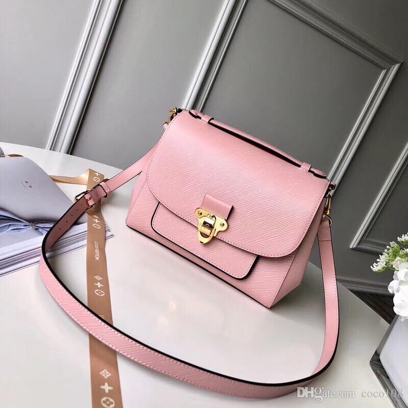 Top1-Qaulity M53336 tamanho 28..20..10 cm Itália Designer de moda bolsa de ombro Seda Forro com pacote de Saco de Poeira Livre Shiping