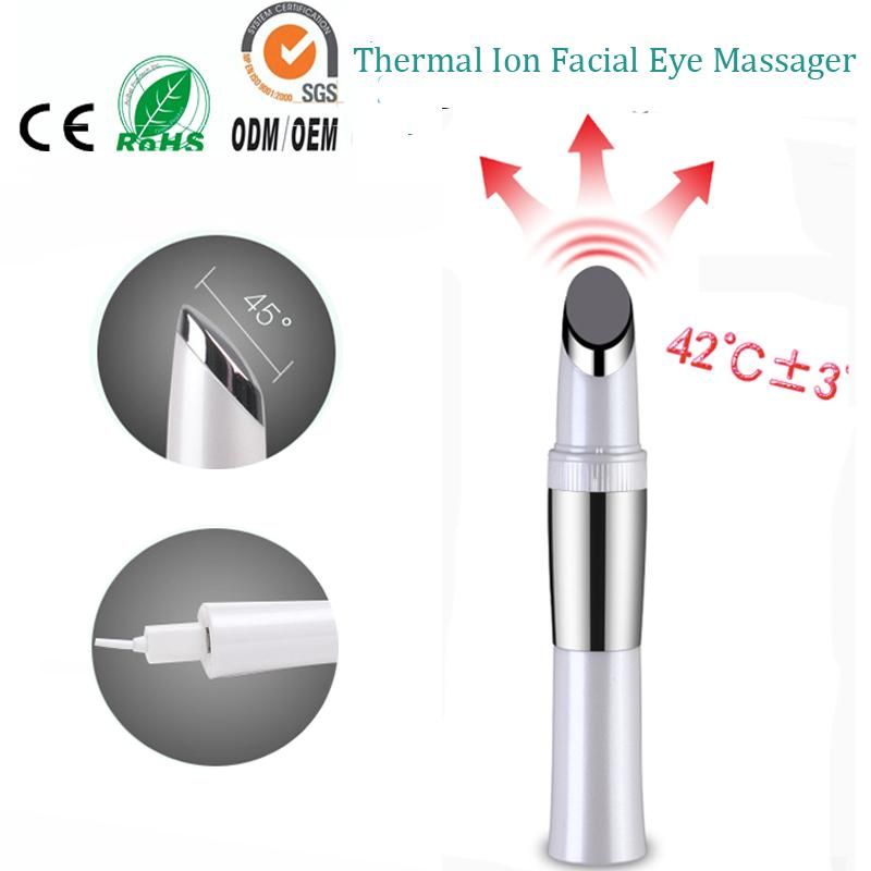Electric touch control micro vibration ionic face eye forehead beauty skin care wrinkle remover firming massager pen magic stick C18112601