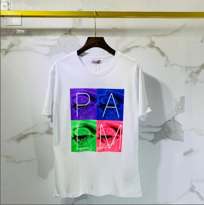 2020 de algodón de alta calidad nueva O-cuello de la manga corta de la camiseta de la marca camisetas de los hombres de estilo casual para los hombres camisetas del deporte del envío. ° 84