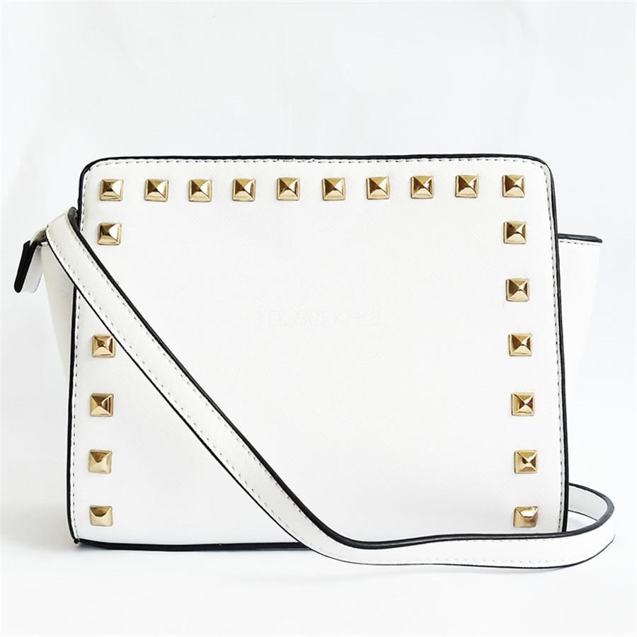 Feminino Crossbody Rivet Bag For Women 2020 Qualidade Pu Leather Luxury Handbag Designer Sac principal Ladies Cadeia Messenger Bag Ombro # 273