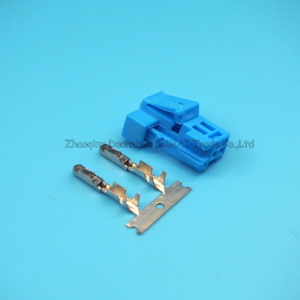 2 Pin Stecker weibliche höhen, Blau auto Ton Hochtonhorn Stecker, Lenkungswahl Steckverbinder für Benz, Mercedes-Benz