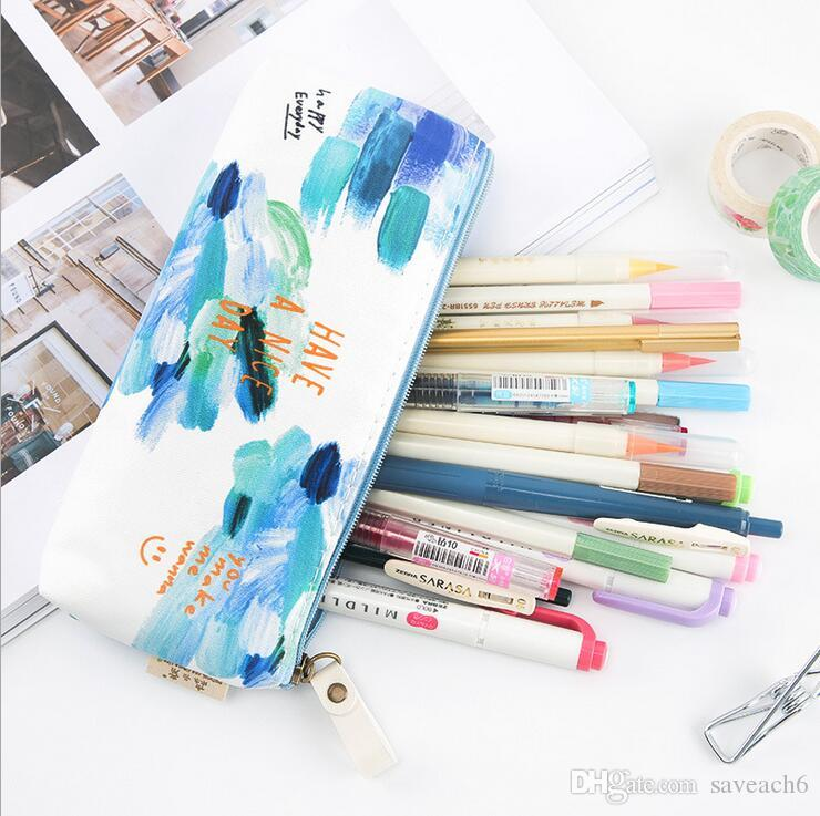 Pencil Case Box Pen Bag School Supplies Stationery Gift - Polyester Fresh Kawaii Pencil Pen Pouch Office Home Makeup Storage Cosmetic Bags