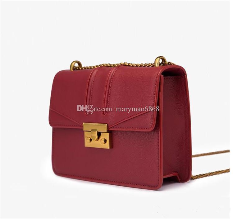 Fashion Small Chain Women Luxury designer Messenger Bag Lock Metal Buckle flip Ladies Crossbody Female Chic Square Clutch Gold Logo bag