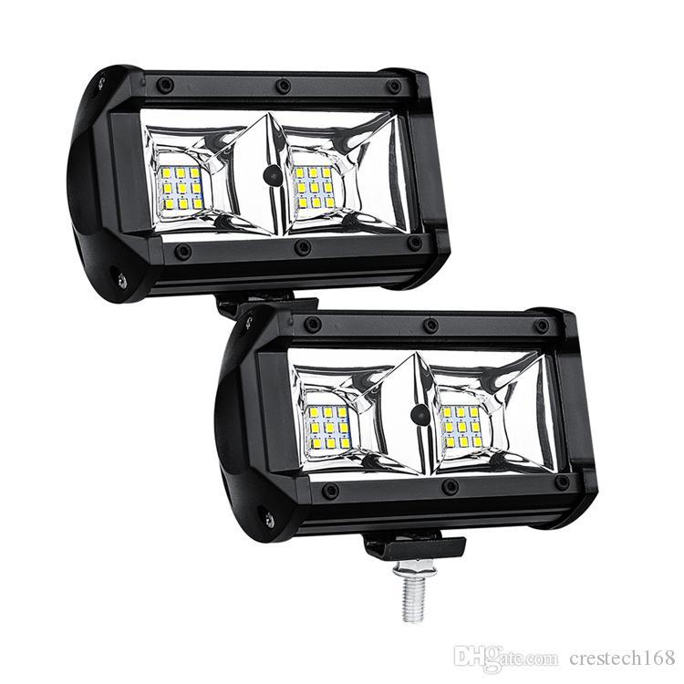 Spotlight 12-24V LED auto luce del lavoro 54W del lavoro barra chiara 6000K impermeabile Piazza antiurto Auto Truck Mini Spot fendinebbia