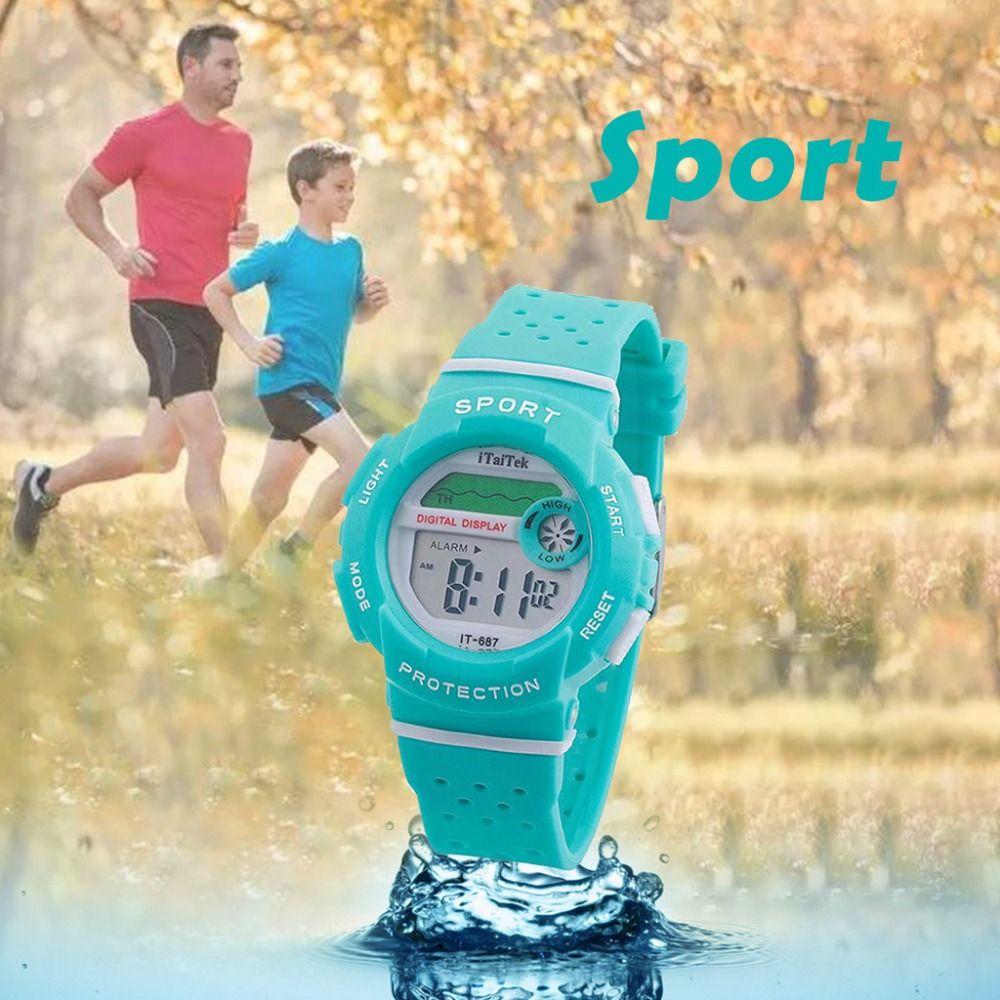 (إيتايتك براند) رياضي مضاد للماء تابع للرجال قاد ساعة توقيت رقمية رياضة مطاطية