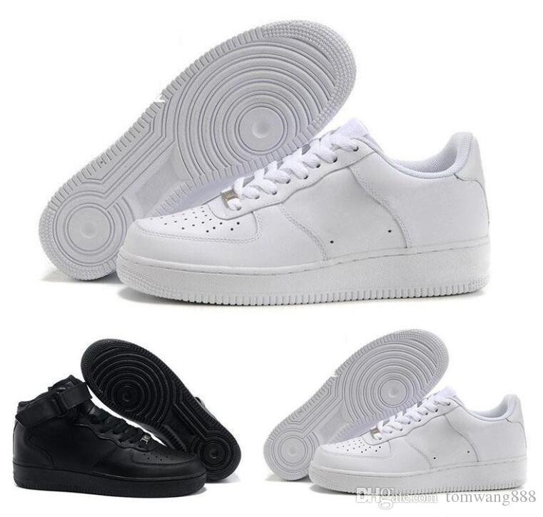 Marka indirim Bir 1 Dunk Erkek Kadın Flyline Ayakkabı Yürüyüş Kaykay Ones Koşu Ayakkabıları Yüksek Düşük Kesim Beyaz Siyah Sneakers