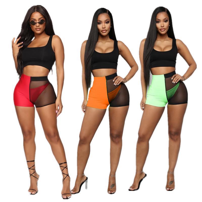 3шт женские летние наборы Мода без рукавов жилет топы + брифы + шорты Bodycon Сексуальная перспектива спортивный костюм ночной клуб новый стиль одежды лучший
