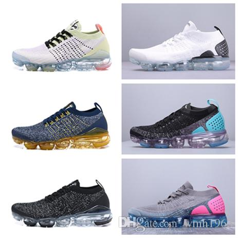 Con Box 2019 New Fashion 2.0 Hombres Zapatos para correr para mujeres Zapatillas de deporte Hombres Blanco Negro Entrenadores Deportes Running 2 Zapatos para caminar de diseño