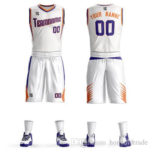2019 повседневная спортивная баскетбольная одежда трикотажные быстросохнущие полиэстер маленький V-образный вырез дизайн костюма разнообразные настройки цвета