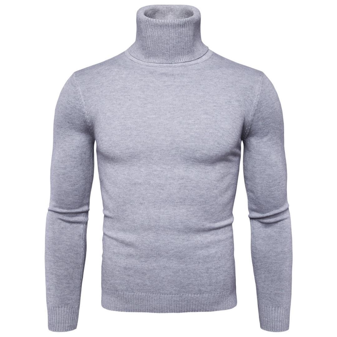 Neue ankunft einfarbig casual männer pullover hoher kragen warme männer pullover pull mens pullover mens rollkragen