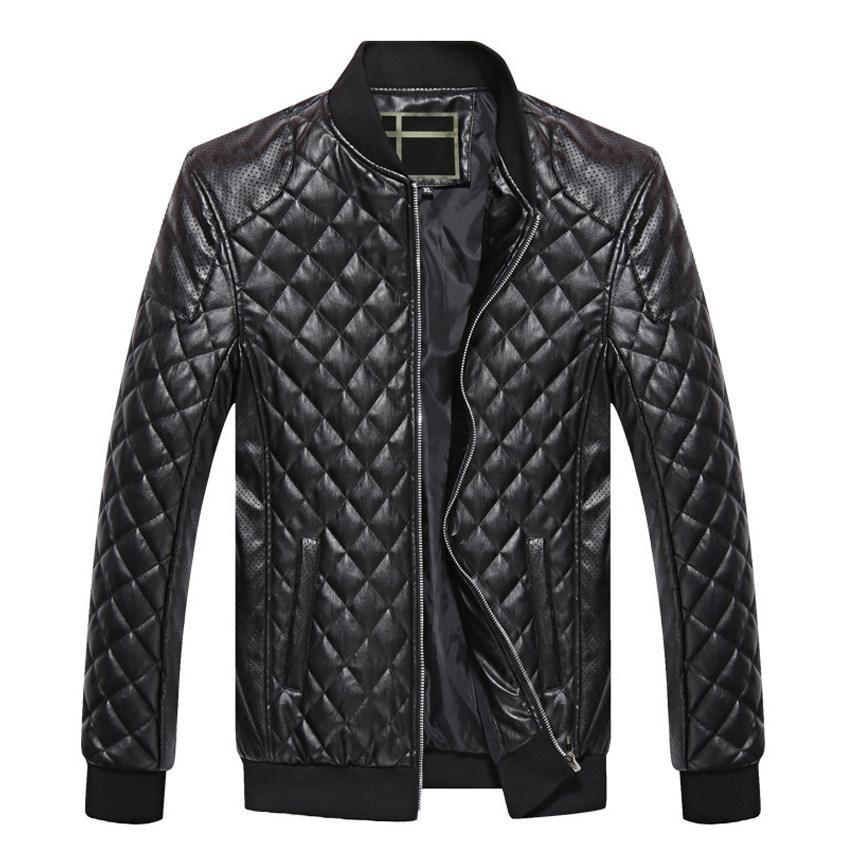 Mens Leather Jackets Autumn Winter PU Coat Men Plus Velvet Outerwear Biker Motorcycle Male Classic Black Jacket M-4XL