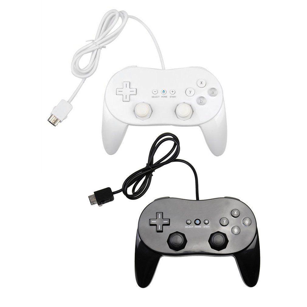 Qualitäts-Gamepads klassischer Game-Controller Mit Grip Joypad Gamepad Kunststoff Schwarz-Weiß für Nintendo-Konsole