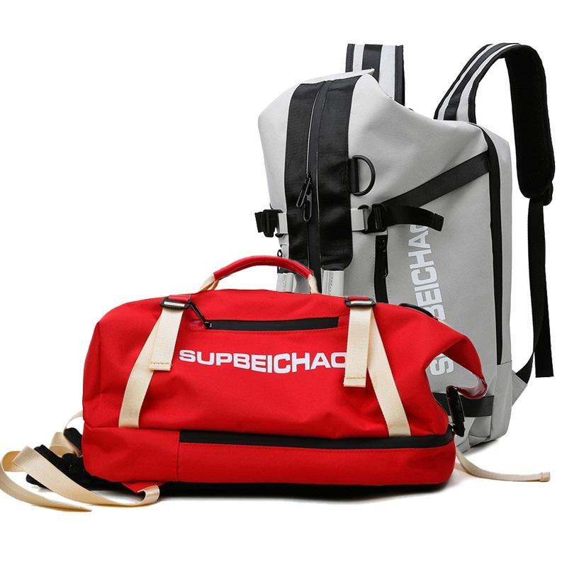 Donne Sport Gym Bag Uomini zaino fitness Grande impermeabile multifunzionale Dry Wet Separazione Crossbody borsa da viaggio
