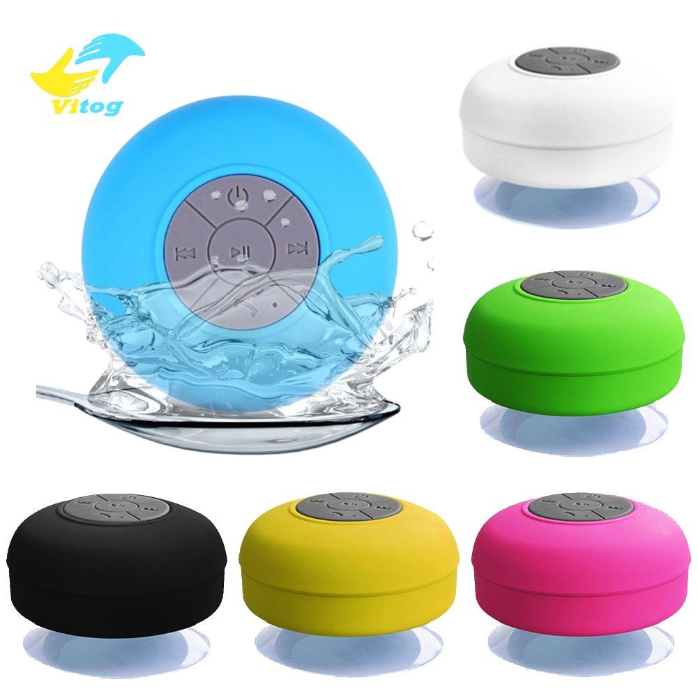 Vitog Mini Wireless Bluetooth Lautsprecher Stereo loundspeaker bewegliche wasserdichte Freisprecheinrichtung für Badezimmer Pool Auto Strand Außendusche Lautsprecher