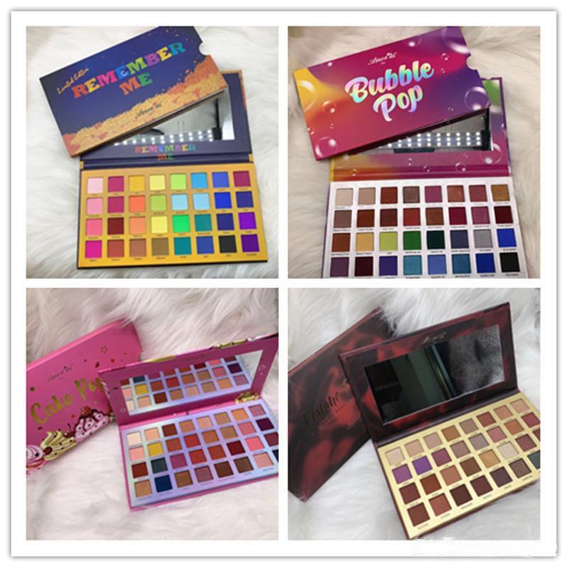 Yeni Makyaj Amor ABD 32 Renkler Göz Farı Paleti Beni Hatırla / Kabarcık Pop / Kek Pop / Famme Fatale Mat Pırıltılı Göz Tozu DHL Nakliye