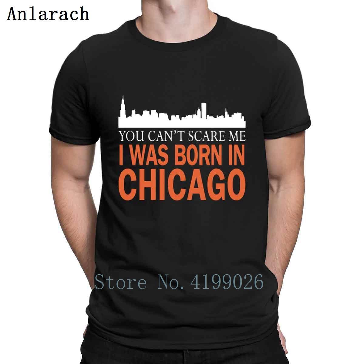 Chicago Nací en Chicago Hippie Camiseta mejor carta personalizada de verano de gran foto camiseta de la camiseta
