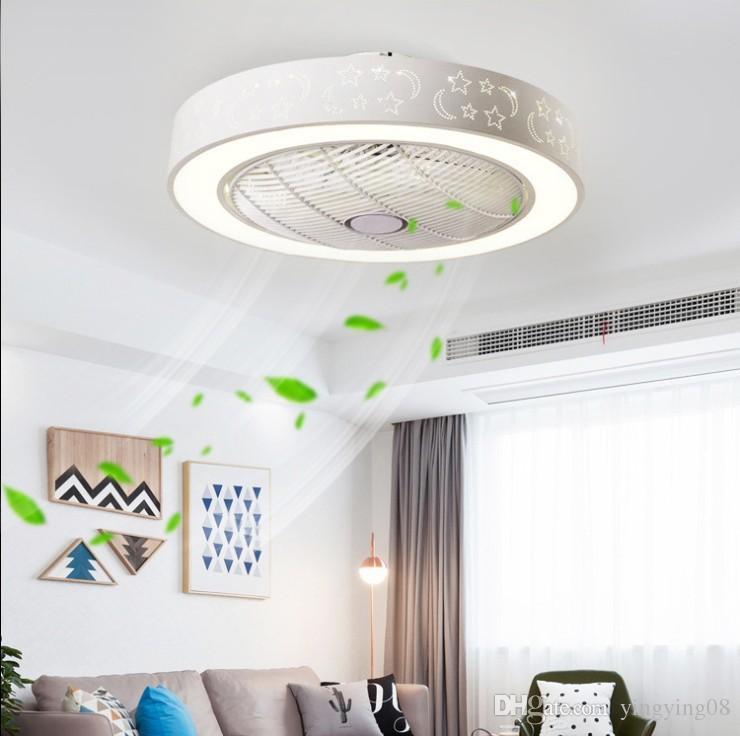 Invisible ceiling fan lights led living room bedroom modern minimalist restaurant lights household remote fan Ceiling Fans 60cm*60cm