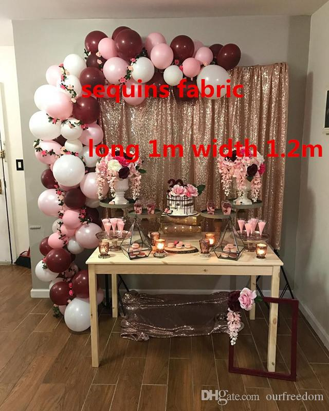Photo backdrops Birthday Party Rectangle Sequin Cloth Sequin Tablecloth Wholesale Sequin Table Cloths Sparkly for 1 Meter x 1.2 Meters