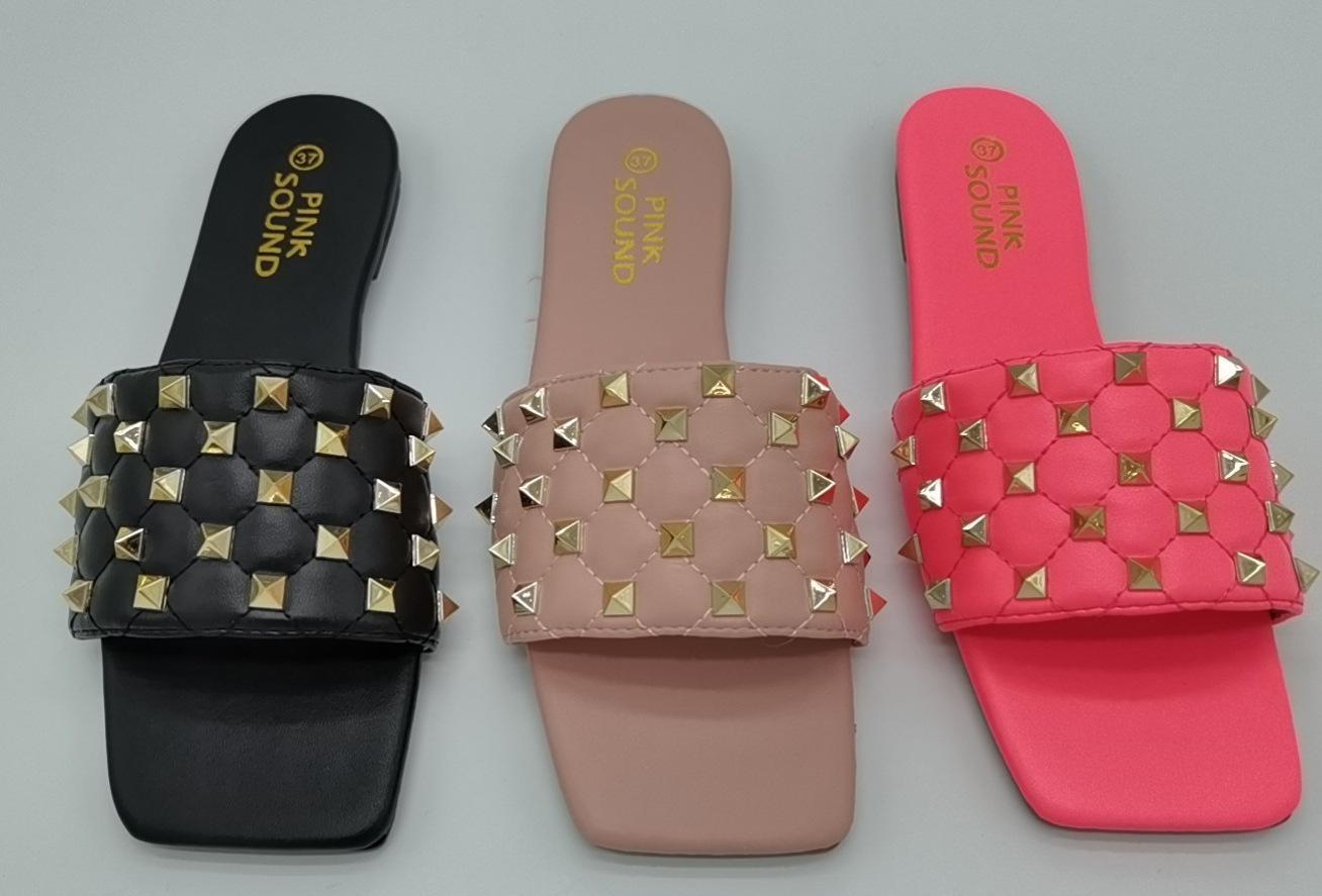 Sandalias Mujeres 2020 Pequeñas Sandalias Cuadradas Sandalias Sandalias Sandallas Sandallas Sandalias Planas Diseñadores de Lujo Flip Flops Design Slides Women Fa