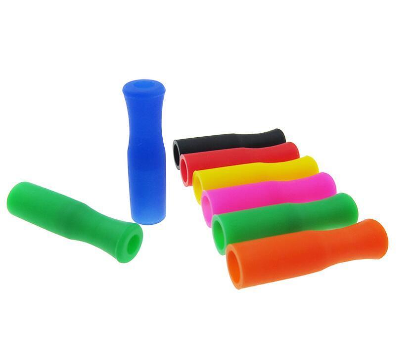 Da Silicone Dicas para aço inoxidável palhas Tooth Collision Prevention Palhas da tampa do silicone Tubos DHL gratuito 7787