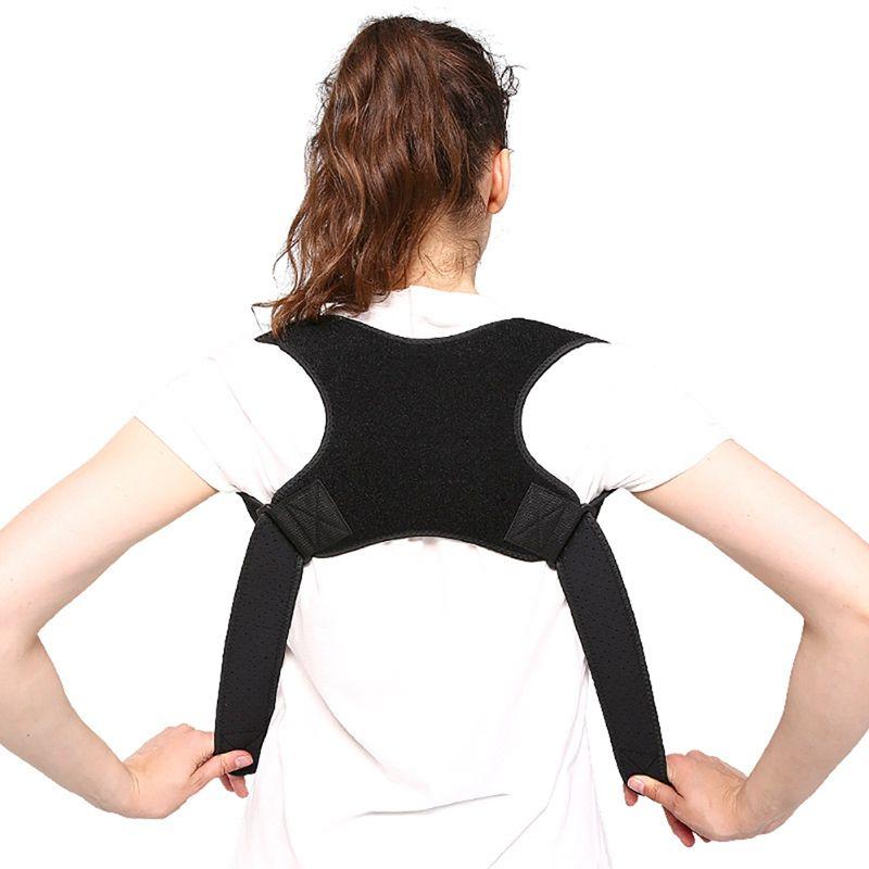 Lage-Korrektor Brace Adult Adjustable Schulteroberrückenstütze Buckel Korrektur Gürtel kurierte Ausrüstung
