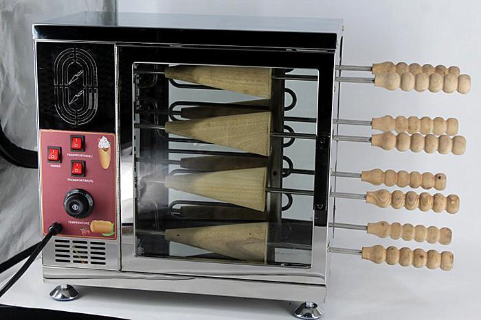 Heavy Duty Electric Ice Cream Cone Kurtos Kalacs Kamin Cake Roll Oven Maker
