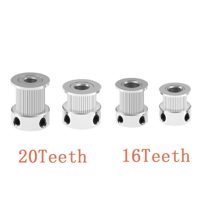 Imprimante 3D pas cher Pièces Accessoires 5pcs / lot 3D Imprimante 20 16 20 GT2 dents Bore 5 mm / 8 mm Timing Alumium Poulie Fit pour