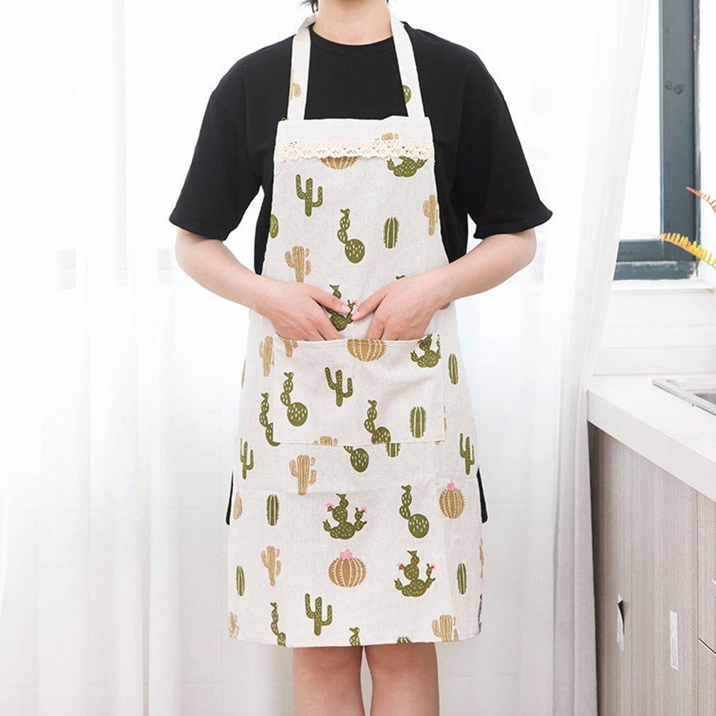 Горячий продавать масло доказательство Womens Главная Кухня Фартук Ресторан Bib Кухонные фартуки Карманы отпечатанных полоса Фартук