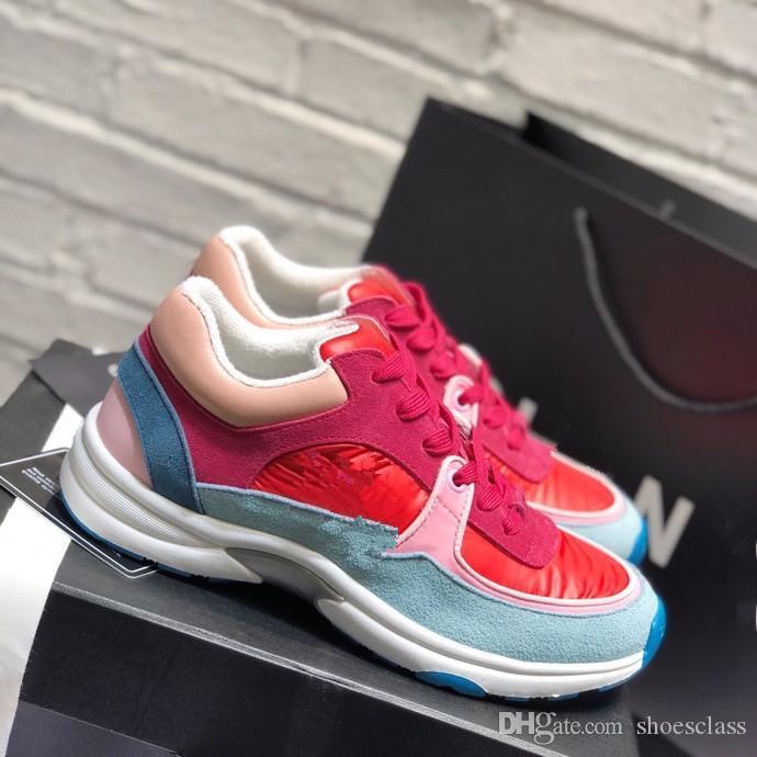 2020 neue klobige Schuhe Mens weiß schwarz orange weiß blau Mode Luxus Platin Tönung der beiläufigen Frauen Turnschuhe khaki zu kühlen