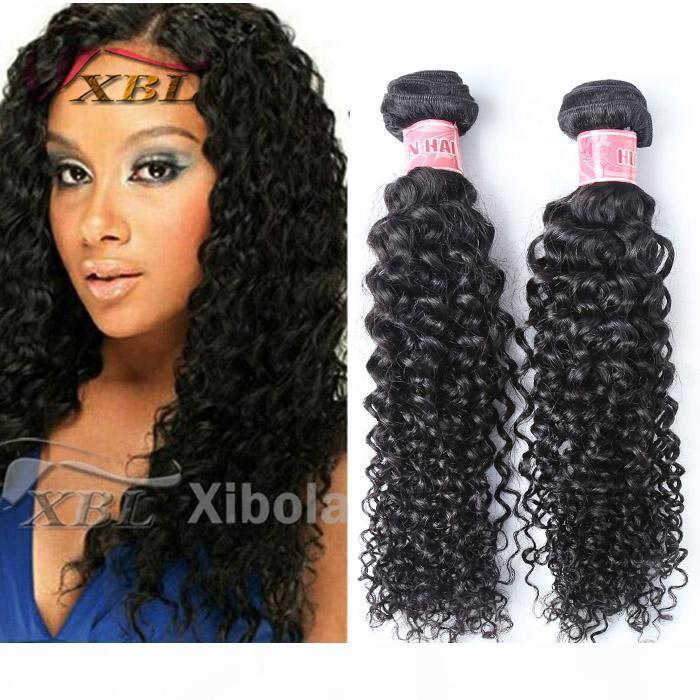 A Xblhair Curly Human Hair Extension Virgin Kinky Curly Weave Brazilian Human Hair Bundles 3 4 Bundles One Set