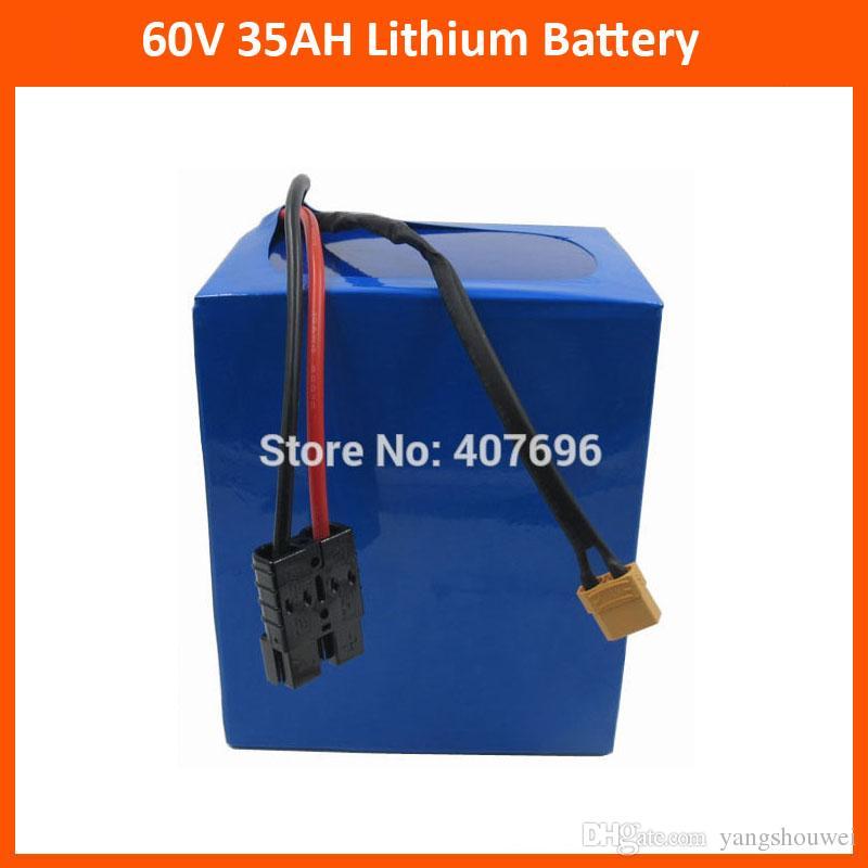 Ücretsiz gümrük vergisi 60 V 35AH Lityum pil 60 V 35AH motosiklet Pil kullanımı 3.7 V 5000 MAH 26650 hücre Ile 50A BMS 5A Şarj