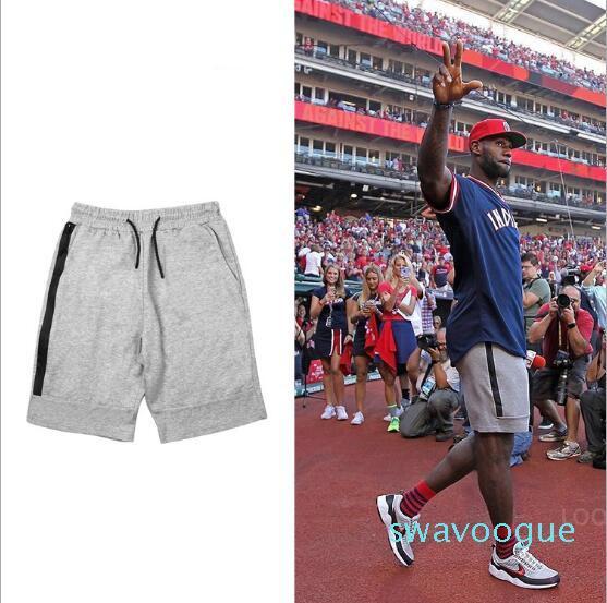 Il nuovo modo di pallacanestro Pantaloncini Fleece Sport Shorts Pocket Zipper Sport Pantaloni Pantaloni Casual Grigio Nero S-XL