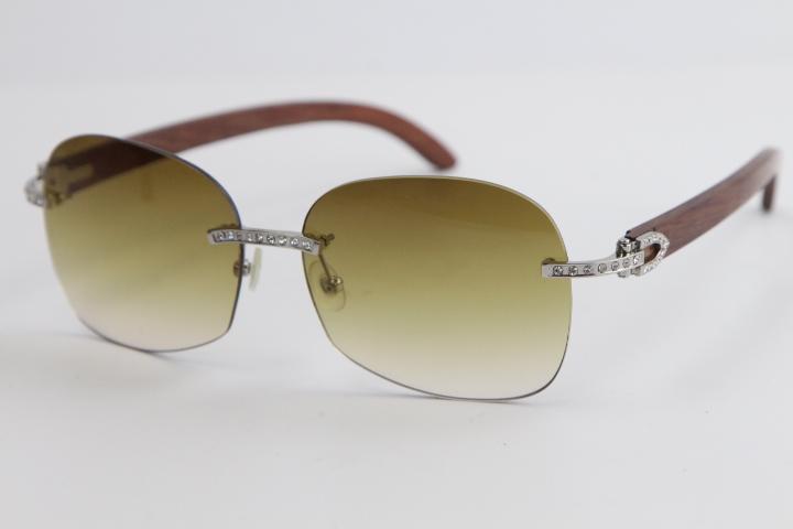 판매 무테 금속 썬은 다이아몬드 믹스 목재 스타일 아웃 도어 디자인 클래식 모델 안경 8100908 선글라스 남여 선글라스 안경