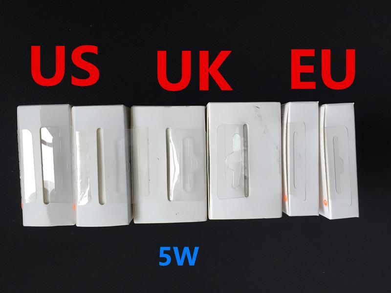 OEM 고품질 5W 5V 1A 미국 / EU 플러그 USB AC 전원 충전기 집 벽 어댑터 전화 A1385 A1400 A1399와 소매 패키지