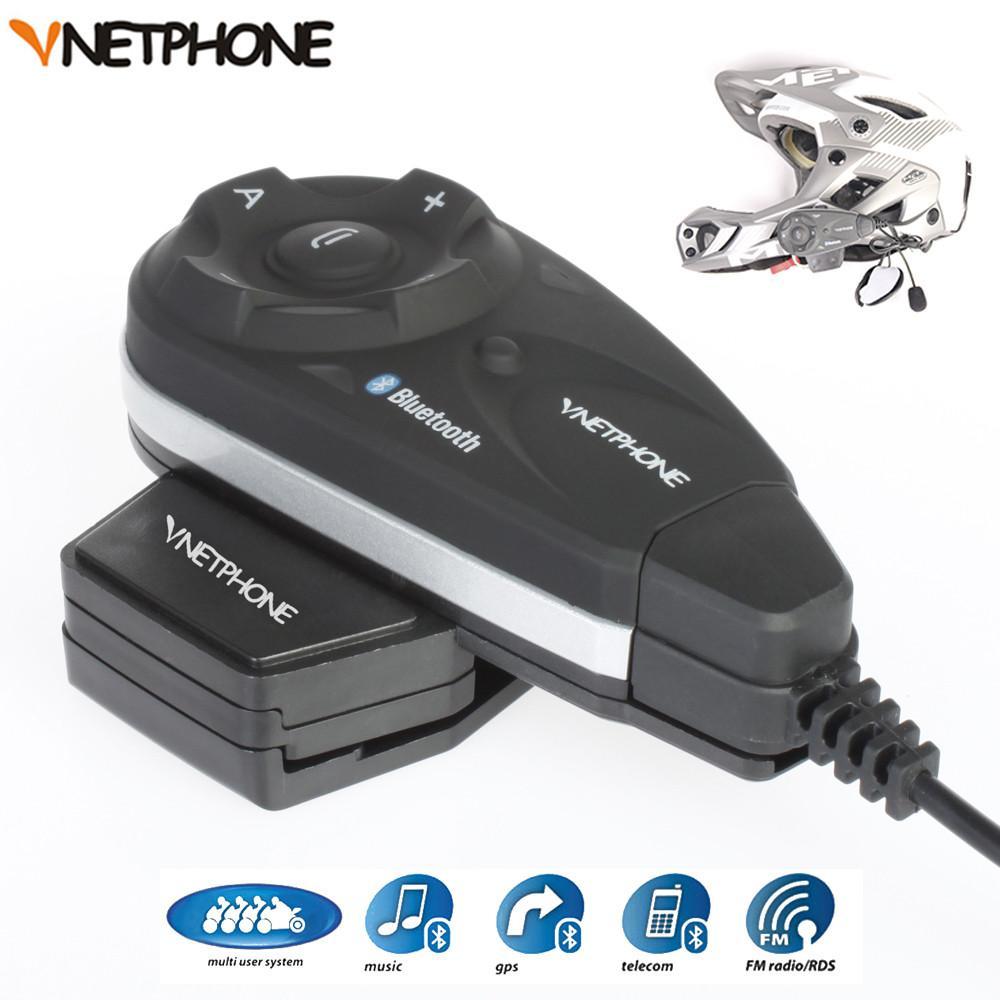V5 Intercom Motosiklet Kaskı Interkom Interfone Bluetooth Kulaklık 1200m Tam Dubleks Destek 5 Kullanıcı Intercomunicador