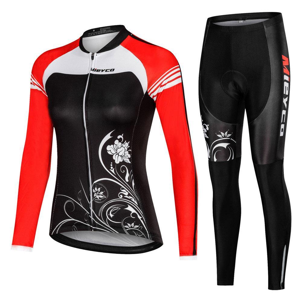 Women Pro Cycling Jersey Long Sleeve Jacket Mountain Road MTB Bike Shirt Girl